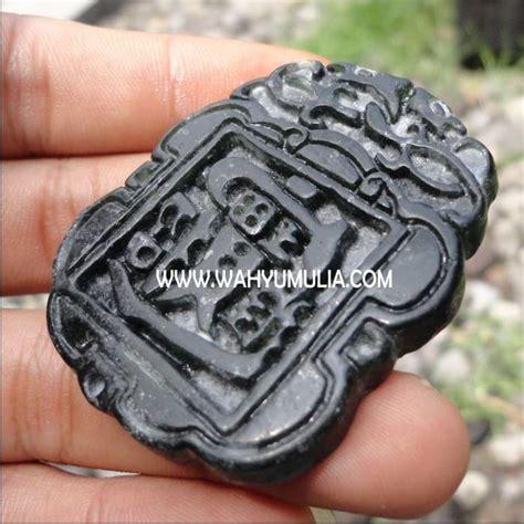 Black Jade Giok Hitam Ukiran Shio batu liontin giok hitam kode 178 wahyu mulia