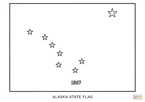 Alaska State Flag Coloring Page
