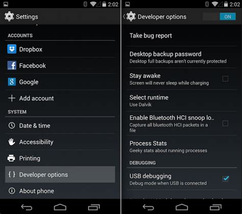 usb debugging android enable usb debugging option in any android smartphones
