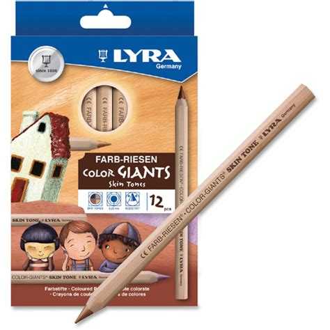 Lyra Color Skin Tone 12 dixon lyra color giants skin tone colored pencils ld products