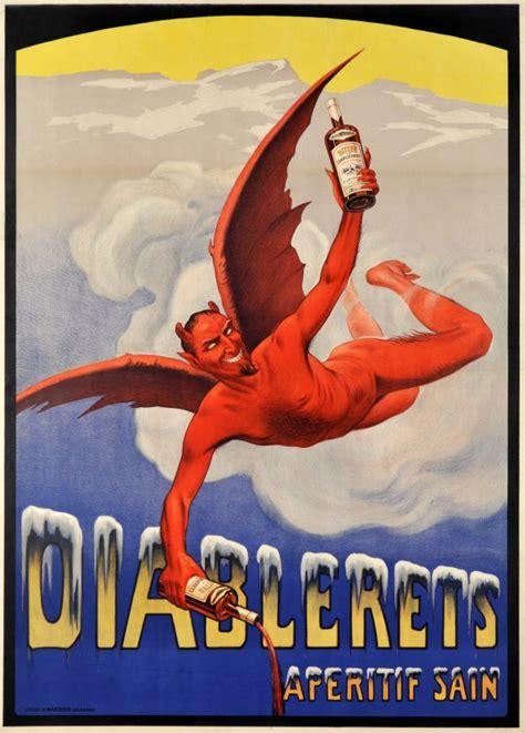 Vintage Poster Motif Kayu 156 diablerets ap 233 ritif sain l une des meilleures affiches sur l ap 233 ritif des diablerets non