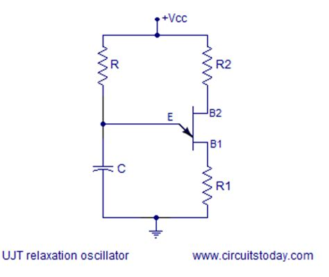 capacitor across oscillator ujt relaxation oscillator circuit diagram ujt theory and working