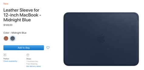 Iphone X Leather Midnight Blue Original Hardcase Soft Kulit Apple apple is now selling a 150 leather sleeve for the 12 inch macbook