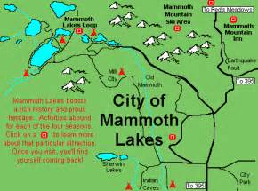 mammoth lakes area map