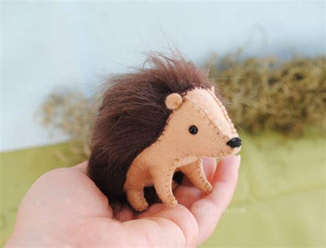 DIY Hedgehog Sewing Kit   Whimsical Woodland Stuffed