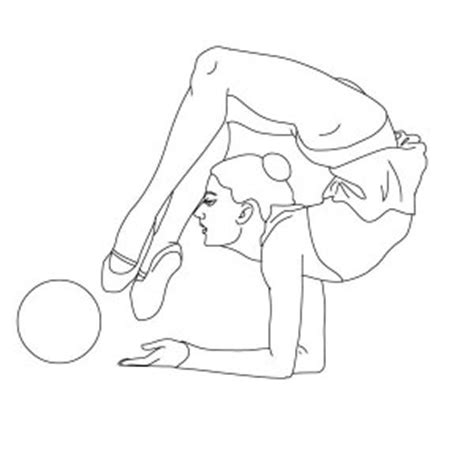 cute gymnastics coloring pages gymnastic coloring pages 12 coloringpagehub