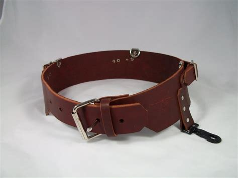 leather belt with for suspenders rm wilson co