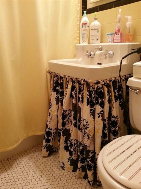 how to make a bathroom sink skirt 1000 ideas about bathroom sink skirt on sink