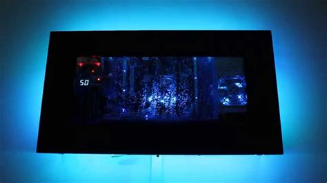 Pc Case Diy wall mounted silicone oil aquarium pc youtube