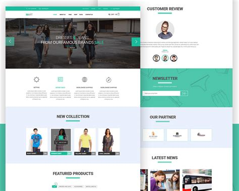 e commerce templates ecommerce website free psd template psd