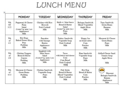 menu design what s for lunch lunch menu ms chelsea s classroom