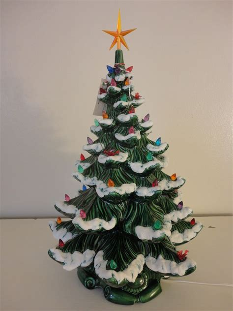 vintage ceramic christmas tree atlantic mold c 1974 w