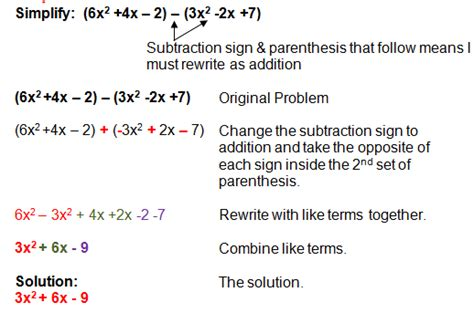 Adding And Subtracting Polynomials Worksheet Answers by Subtracting Polynomials Exle Systems Of Equations
