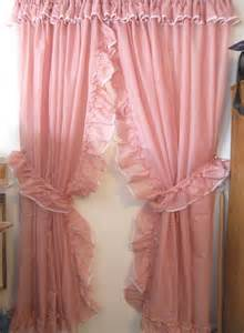 Lace Shower Curtain With Valance Pink Priscilla Curtains 187 Ideas Home Design