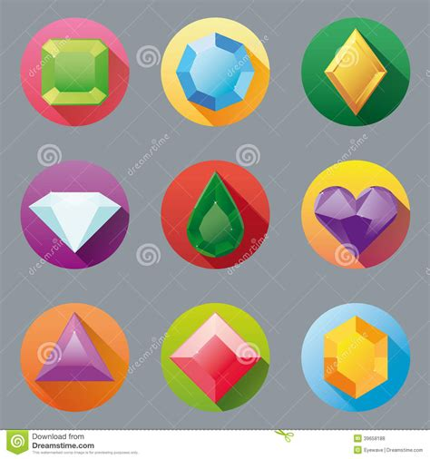 Home Design Free Gems by Flat Design Gem Icon Collection Stock Photo Image 39658188