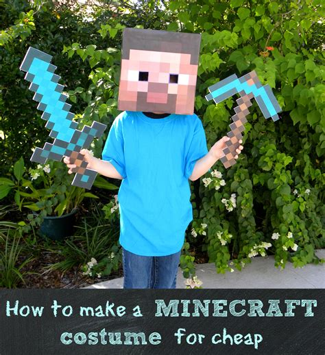 diy steve minecraft costume how to make a minecraft steve costume for less than 10
