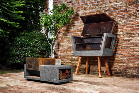 innovative barbecue experience concrete batea outdoor grill by materialitica freshome com