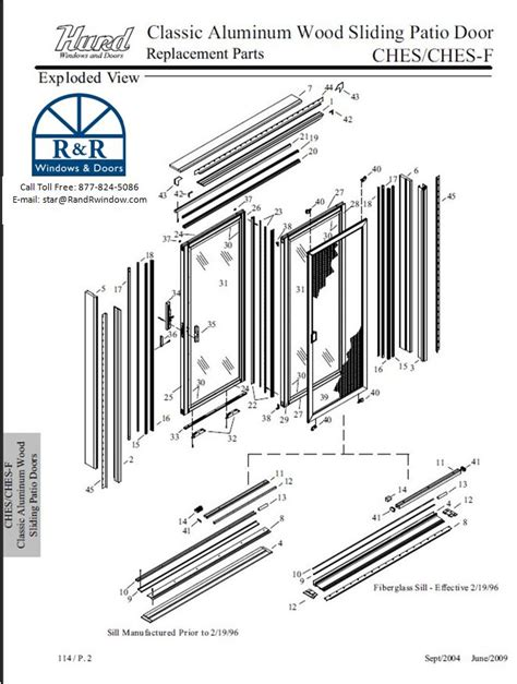 Patio Sliding Door Parts Sliding Patio Door Parts
