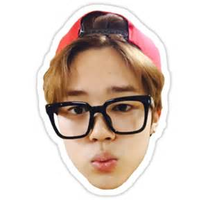 Clock Wall Stickers quot jimin selca bts quot stickers by ichigobunny redbubble