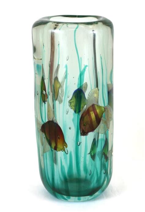 Vase With Light by Alfredo Barbini Aquarium Vase With Light Base Pauly And