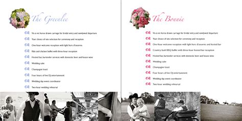 Lakeside Wedding Brochure by 16 Page Brochure For Wedding Venue Ranch On Behance