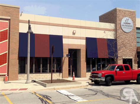 awnings for businesses custom commercial awnings bolingbrook il