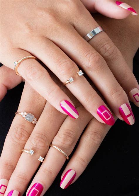 Nail Using Household Items easy nail designs using household items threads