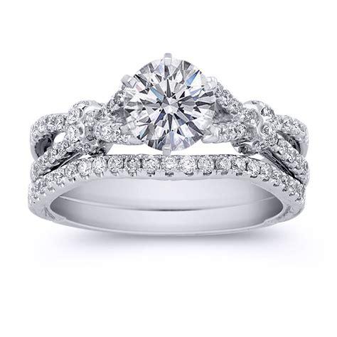 size of wedding ringsvintage princess cut bridal sets
