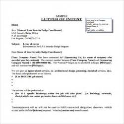 Letter Of Intent For Exles by Doc 585610 Letter Of Intent For Employment Letter Of Intent For A Templates 20 Free