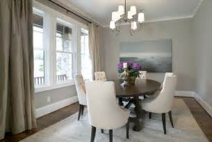 blue and gray dining room with stainless steel and maple