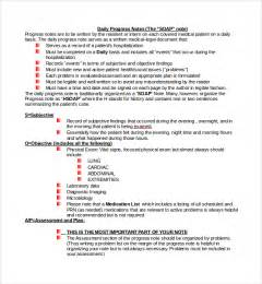 sample progress note template 9 free documents download