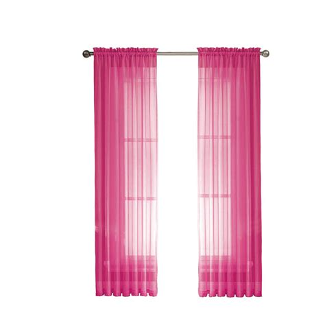 Pink Panel Curtains Window Elements Sheer Pink Rod Pocket Wide Curtain Panel 56 In W X 84 In L