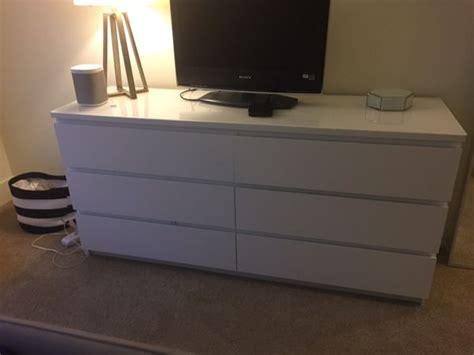 malm 6 drawer dresser white furniture in san jose