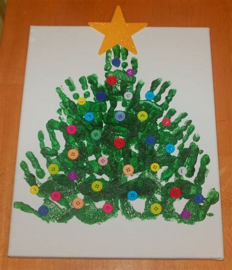 handprint christmas tree christmas pinterest