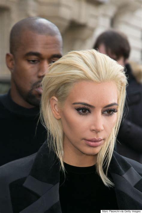 kim kardashian updates platinum hair color in paris kim kardashian goes platinum blond for paris fashion week