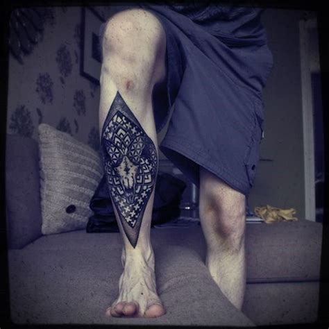 tattoo legs designs for men tattoos for rhombus leg