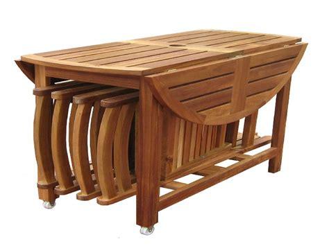 Teak garden chairs, folding dining table set folding