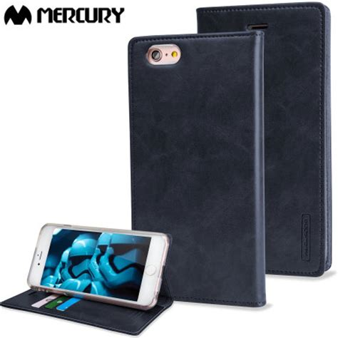 Iphone 6 Blue Moon Flip Warna Navy Goospery Cover Mercury mercury blue moon flip iphone 6s 6 wallet navy reviews