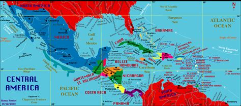 map of america and central america america maps