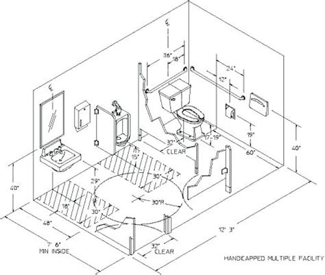 commercial handicap bathroom dimensions handicap bathroom requirements commercial bathroom layout residential cad block