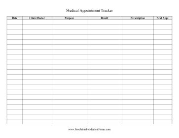 printable appointment tracker