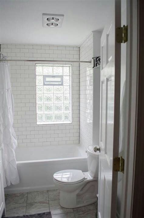 bathroom windows india we remodeled white subway tile gray grout glass block