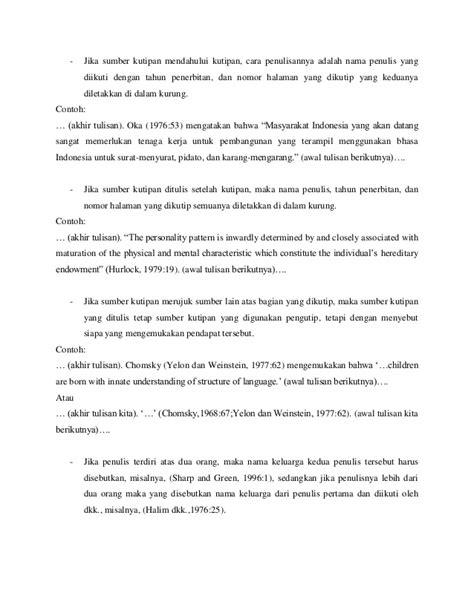 format penulisan daftar pustaka untuk skripsi cara menulis kutipan dan daftar pustaka karya tulis ilmiah