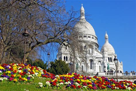 Flowers Bloom by Spring Flowers And Perfect Sunny Day In Montmartre