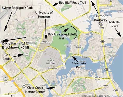 houston map clear lake bay area bike trails bike gallery