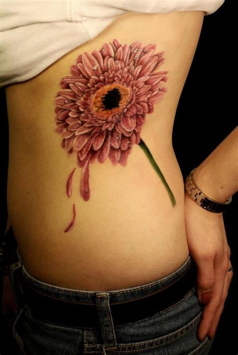 15 no line flower tattoos you must pretty designs
