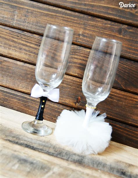 wedding crafts for wedding crafts diy and groom glasses darice