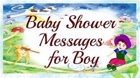 Baby Shower Message by Baby Shower Messages For Boy