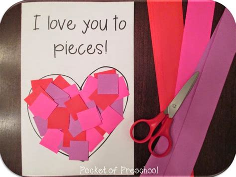 valentines day kindergarten s day card give students pre cut strips and
