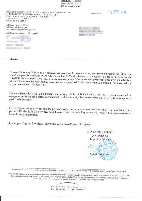 Lettre Refus Vendeur orange et refus de vente les conclusions de la dgccrf